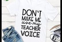 Teacher T-Shirts and Teacher Fashion / Teacher T-Shirts, Teacher Mugs, and Teacher Gifts can be funny, humorous, and meaningful! Perfect gift ideas for elementary teachers, middle school teachers, and high school teachers!
