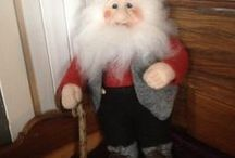 Santa is coming..../Julenissen kommer / Look at the Norwegian NISSE (made by Janne Brandåstrø) He used to take care of the farmers, the buildings on the farm, and also the livestock, provided he was supplied with a bowl of porridge on Christmas Eve