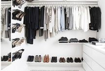 Walk in closet / Inspiration til mit eget walk in closet.