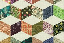 Tumbling Blocks and other 3D patterns / classic patchwork pattern