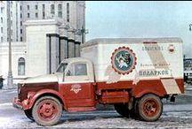 ГАЗ-51А автофургоны / чудесная серия снимков московских автофургонов периода 1953-55 гг. в оригинальной фирменной окраске. Точный год съемки, равно как и её назначение, не известны