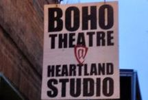 Heartland Studio / The original home for BoHo Theatre, Heartland Studio remains an iconic fixture in the Rogers Park arts district.  BoHo has opened the Studio's doors to many up-and-coming theaters of Chicago, while continuing to produce its own fantastic works such as Hauptmann, Veronica's Room, and the upcoming summer production of Myths and Hymns.