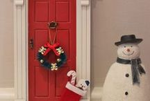 Magic Doors at Christmas / A gallery of our lovely Magic Doors at Christmas time. Fairy Door, Elf Door.