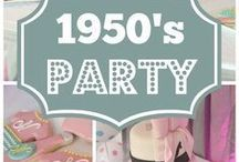 Fabulous 50's Parties / 50's parties are all the rage.  Whether you are turning 50, or are just nostalgic for the 50's, these celebrations are a LOT of fun.
