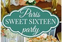 Sweet Sixteen Party / A sweet sixteen party is a fabulous tradition to celebrate a girl becoming a young woman.