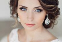 """Gorgeous Brides / Every woman wants to look at her absolute BEST on her wedding day.  Hairstyle, makeup, dress, accessories, it's all part of the """"look""""."""