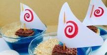 Little Girl's Moana Party Ideas / Ideas for a Disney Moana birthday party for your little girl.  Includes Moana themed treats and cakes, decor, fun games to play and party favors.