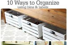 Organization / Home Organization Tips | Organization Ideas for the Home | DIY Organization