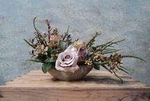 vasos decorados com flôres