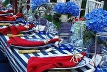 table settings - 4th of July