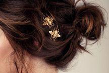 Hair accessories / Hair, gold, silver, bobby pins, nice ideas, elastics, clips, updo's