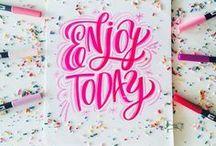 DESIGN | Typography / Typography, chalk letters, abc,