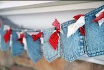 Jean Pocket Crafts + Denim Crafts / Denim Crafts | DIY Denim Projects | Jean Pocket Crafts |