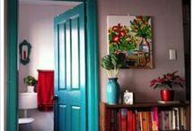 doors + floors / #doors #frontdoor #floors #woodfloors #tilefloors  / by /nicole adelman brewer/