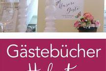 ♥ Hochzeit Gästebücher / Sammlung von verschiedenen Gästebuch-Design von klassischer Buchform über Fingerprintbäumen bis hin zu Holzbildern Shop unter www.all2design-papeterie.de