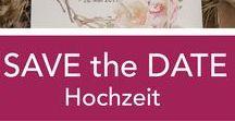 ♥ Hochzeit Save the Date Karte / #hochzeit #savethedate # savethedatekarte