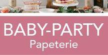 Babyparty / Babyparty Dekoration und Papeterie, Inspirationen