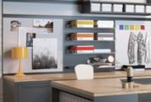 Storage at Work / Maximizing every area is important in today's workplace. Depending on the space and its use, storage pieces can support or complete an environment.
