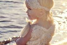 F L O W E R    G I R L   L O V E / Beautiful flower girl ideas, dresses, headpieces, what to carry