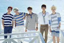"""shinee / Shinee is a South Korean contemporary boy group formed by S.M. Entertainment in 2008. The group consists of Onew, Jonghyun, Key, Minho, and Taemin. They made their debut on May 25, 2008 on SBS's Inkigayo with their single, """"Replay"""""""