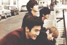 Super Junior / Exo is a Chinese-South Korean boy group based in Seoul. Formed by S.M. Entertainment in 2011, the group debuted in 2012 with twelve members separated into two subgroups, EXO-K and EXO-M, performing music in Korean and Mandarin, respectively. The members are: Cho Kyuhyun, Choi Siwon, Lee Donghae, Eunhyuk, Leeteuk, Yesung, Kim Heechul, Kim Ryeowook, Lee Sungmin, Kangin, Shingong, Kim Kibum.