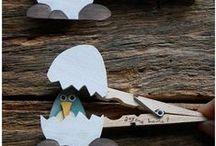 LIM: mollette dei panni / Usi creativi per le mollette di legno.