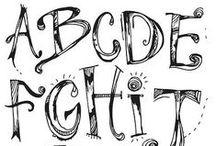 LIM: Alfabeti / Font e modi artistici per scrivere l'alfabeto.