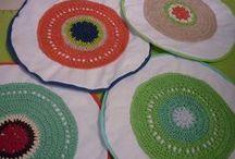 Tejido (por Paulina Mabres) / Mis tejidos, hechos a mano con dos agujas, crochet y telar