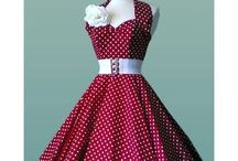 50's / This is totally my era!  The skirts, polka dots, everything!