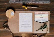 Papeterie Design / Hochzeitseinladungen von Save the Date, Einladungskarten, Menükarten, Tischkarten über Dankeskarten etc.
