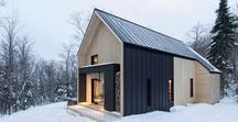 Weather inspired Architecture #snow / We are feeling inspired by the weather...modern, comfortable, practical, beautiful homes/cabins built to withstand harsh weather conditions