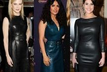 Celebrities Leather Allure / Calling all lovers of leather, start pinning!