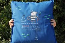 Customised cushions / Patchwork / embroidery / hand painting on pillow cases.