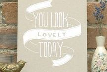 // INSPIRATION / by Paperwheel | letterpress & design