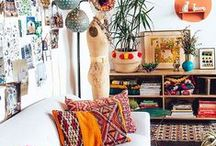 Boho Beautiful Home Inspiration / Gorgeous, boho inspired home decor ideas. From bar carts to hammocks and some ingenious home hacks for small space living