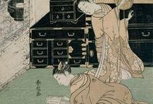 Japanese art / Mainly the EDO period  mid 1700's in Japan