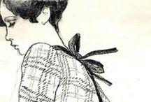 retro fashion sketches / fasion