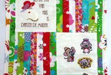 Patchwork / Quilt / Mooie wandkleden en kussen hoezen en dekens