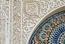Moroccan, moorish, arabic patterns, style, desing & architecture