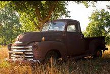 Old rusty trucks