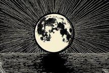 Konst å sånt. / Art deco illustrations, posters & oil paintings. And a LOT of moons.