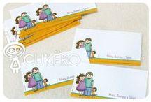 Tarjetas personales para la familia / Hacemos:  - Tarjetas personales con los teléfonos y datos de la familia. - Stickers personalizados. - Postales. - Tarjetas para colocar en los regalos...Y muchos productos más!!!