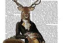 Antiquarian Dictionary Book Prints | FabFunky / FabFunky's hand-crafted, original artwork is printed onto genuine 19th century British antiquarian book pages. These colourful & often eccentric & quirky illustrations featuring period characters & magical creatures. They will bring a part of British 19th century history into your home. The vibrant images are printed on backdrops of Scottish folk tales, mystical Celtic legends & English dictionaries & journals.  Each print is an unique piece of art as no antique page is the same. #ShopifyPicks