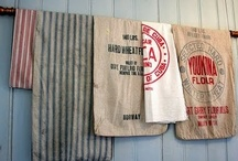 Flour & Feed Sacks / by YesterYear Primitives