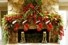 Christmas Fire Places & Mantels / by YesterYear Primitives