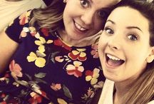 sprinkleofglitter+zoella / the lovely chummies, Zoe Sugg and Louise Pentland.