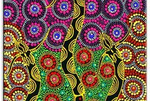 Aboriginal Art / A board of Aboriginal Art inspiration for my project