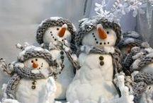 Snowmen / by YesterYear Primitives
