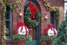 Winter Holiday Decor / Christmas tree decor, mantle decor, gift wrap ideas, etc.