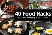 Fabulous Food Hacks / Clever food tricks, tips and secret that will make your cooking experiences a heck of a lot easier.